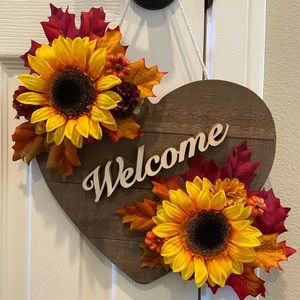 Fall Floral Welcome Sign